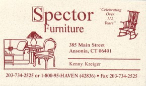 Click to see Spector Funiture Details